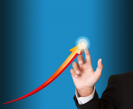 Hand pointing arrows Stock Photo - 15426691