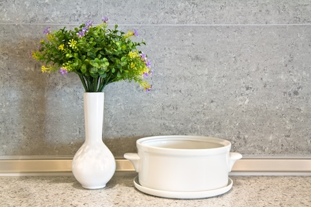 white ceramic pot photo