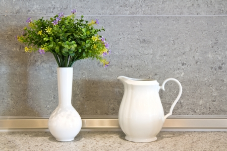 white ceramic pot Stock Photo - 15426733