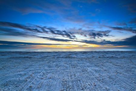 sand ripples at the huahin beach, Thailand photo