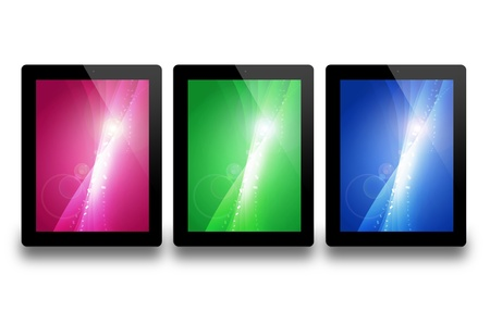 tablet pc, isolated on background white Stock Photo - 15427117