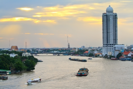 Bangkok city and river photo