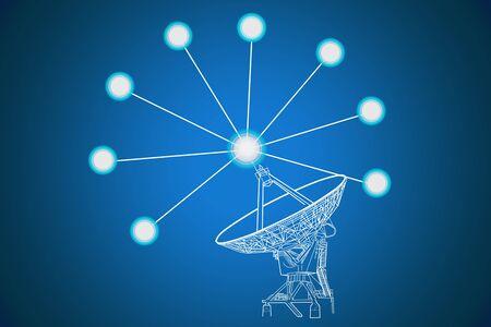 Communication antenna photo