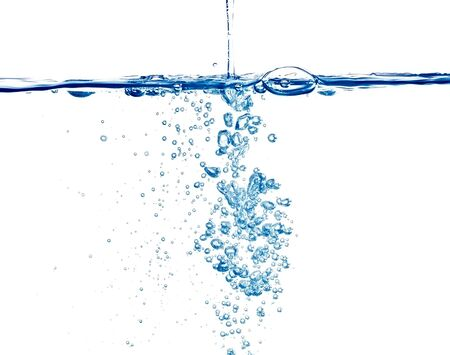 closeup of bubbles in  water Standard-Bild