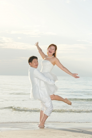 happiness and romantic Scene of love asian couples partners photo