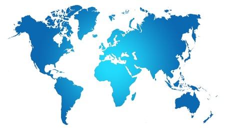 Blue  World Map, World background photo