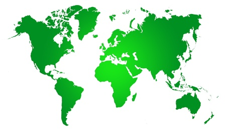 Green  World Map, World background photo