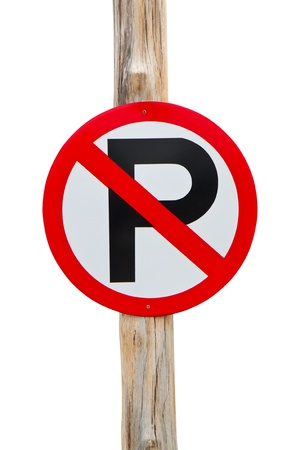 No parking sign on white background Stock Photo - 16449357