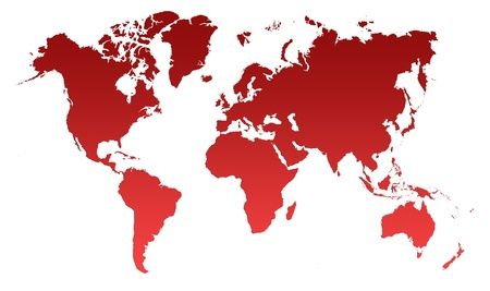 Red World Map, World background