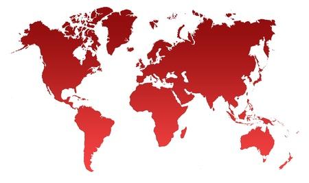 Red World Map, World background