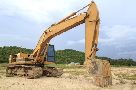 Truck backhoe photo