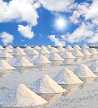 Salt fields in thailand photo