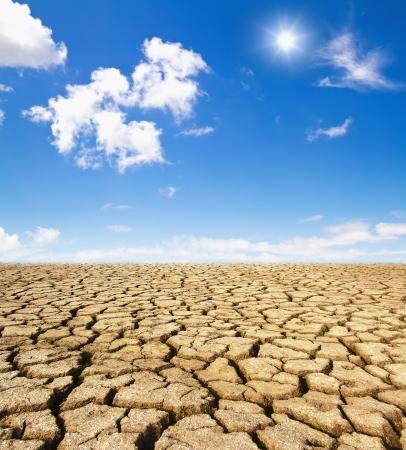 Drought land Standard-Bild