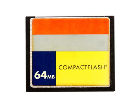 mb: CF - Compact Flash-64 mb Stock Photo