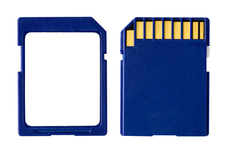 sd: memory SD card on a white background Stock Photo
