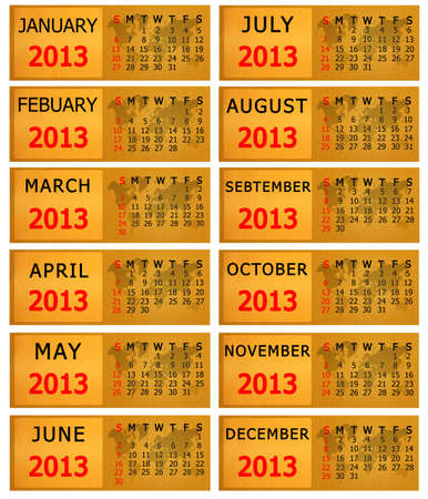 2013 Calendar on bank paper notes background. photo