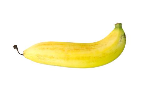 banana peel: Ripe banana isolated on white background