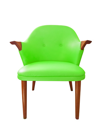 Isolated view of an green antique chair Stock Photo - 22941024