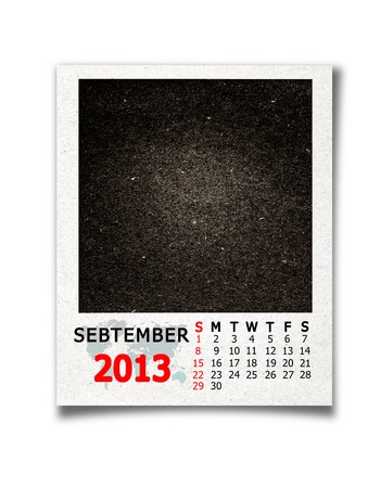 Calendar 2013 september  on blank photo background photo