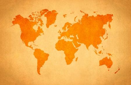 old world map: World Map, World background on grunge paper