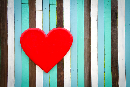 heart love on wooden wall photo