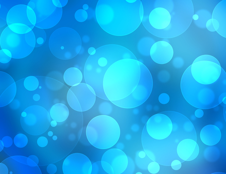 Abstract Lights on blue background. photo