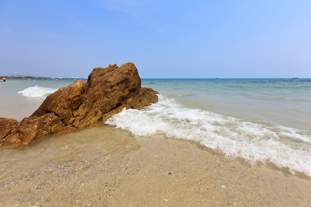 Hua- Hin beach, is famous, Thailand photo