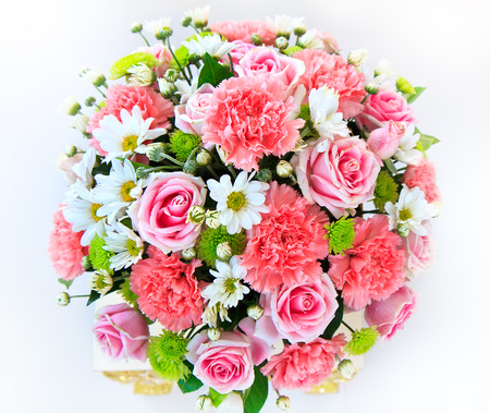 Beautiful bouquet of flowers ready for the big wedding ceremony Stock Photo