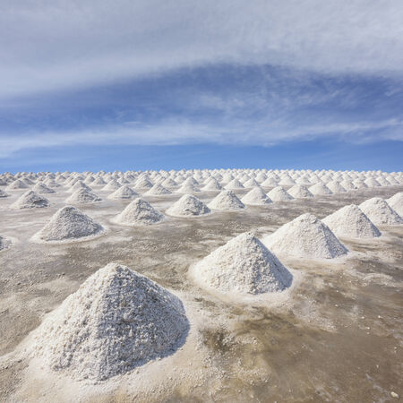 Salt fields in thailand photo