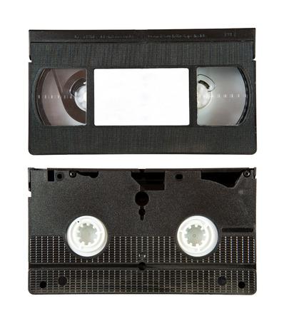 vhs videotape: VHS video tape cassette isolated on white background Stock Photo