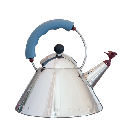 kitchen device: stainless electric kettle isolated on white Stock Photo