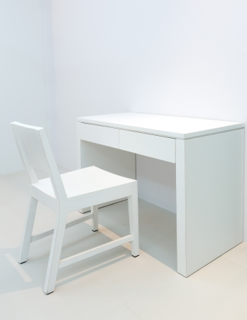 schooldesk: desk and white chair