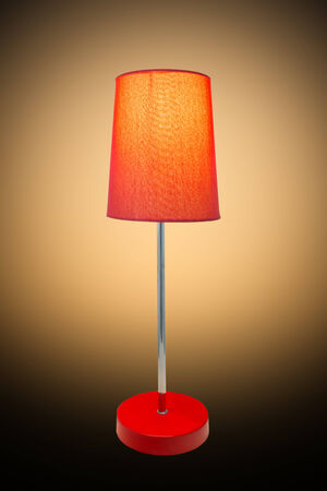 table lamp  with clipping path Stock Photo - 23696375