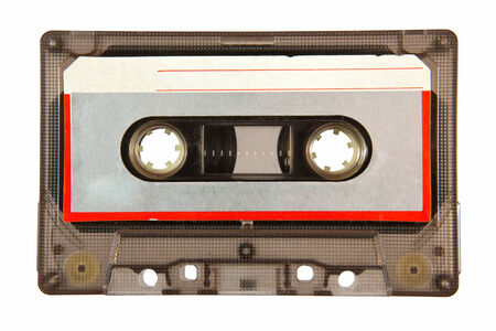 Retro  Cassette tape on white background photo