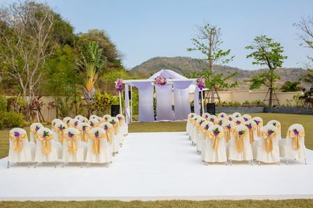 set up: wedding set up