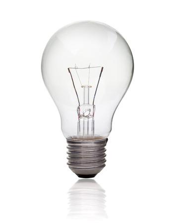 Light bulb isolated on white, Realistic photo image Stockfoto