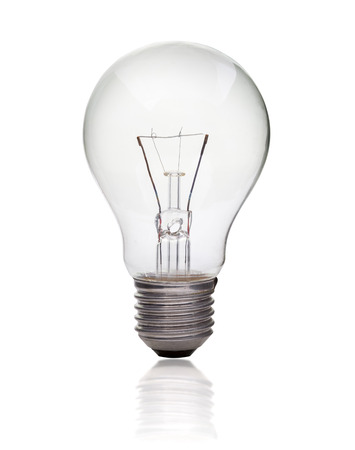 Light bulb isolated on white, Realistic photo image Stock Photo