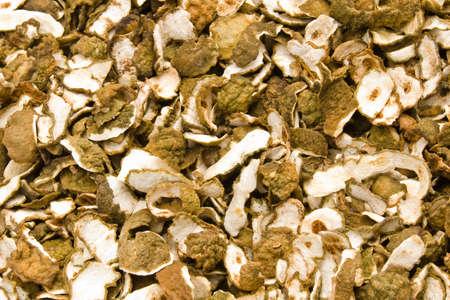 Kaffir Limes dry shell Stock Photo