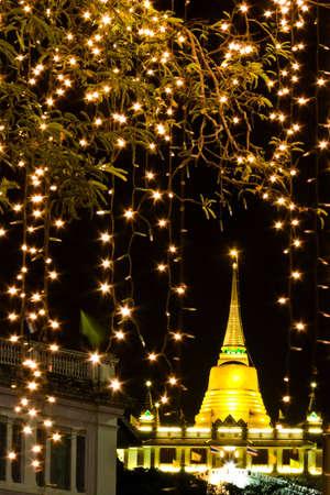 Golden Pagoda at Wat Srakas,Thailand