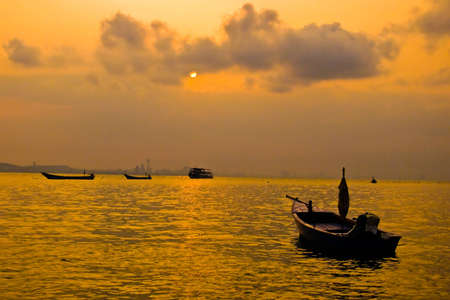 Boats on the sea in twilight. Stock Photo - 8806308