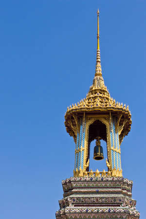 Golden bell tower of Wat Phrakaew in Thailand.(1)