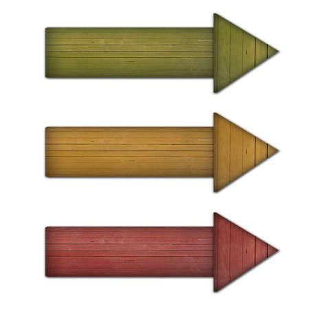 arrow wood: flecha de madera de color