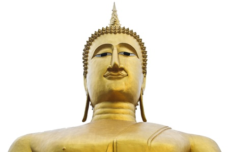 Monk statue on white background it s isolate Stock Photo - 14838946