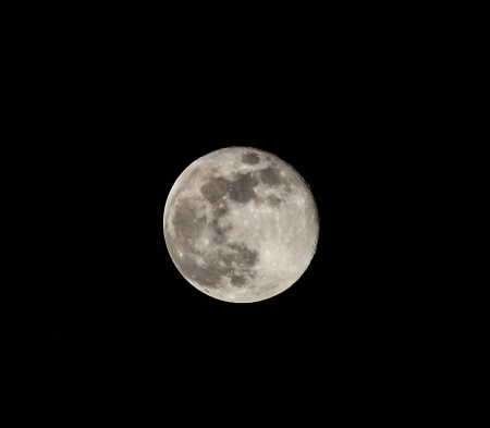 Telescopic view of a full moon photo