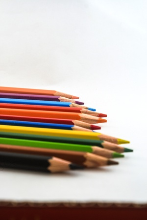 Color pencils on white background it s isolate  Stock Photo - 15682433