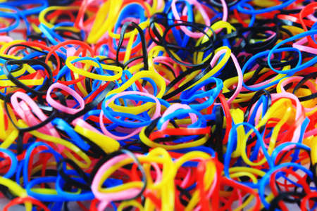 Rubber bands of many colors  photo