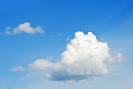 photons: Cloud on the blue background