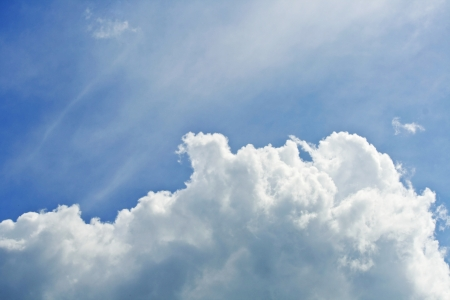 Cloud on the blue background  Stock Photo - 16725767
