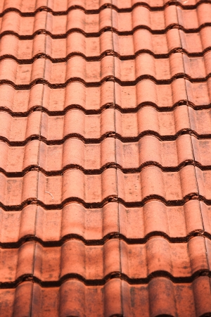 Close up brown roof for use texture background  Brown roof Фото со стока