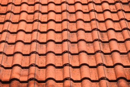 Close up brown roof for use texture background  Brown roof Stock Photo